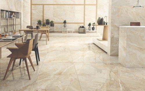 Beige Marble Slab On floor