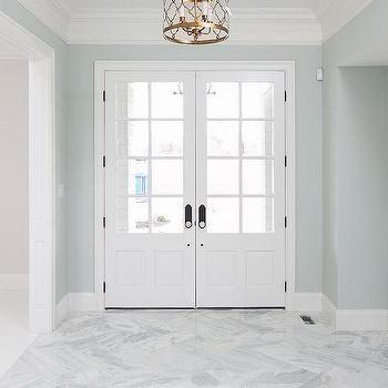 Bianco Marble Slab In Enterance