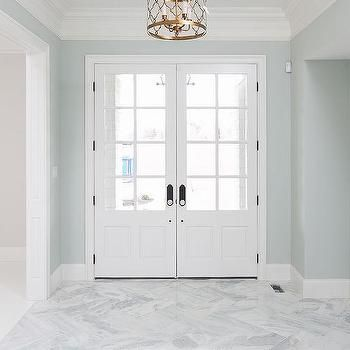 Bianco Marble Tiles In Enterance