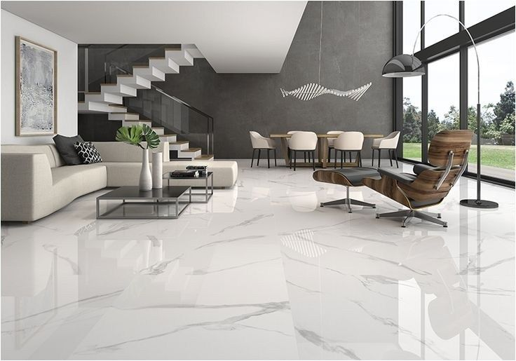 Bianco Marble Tiles In Living Room