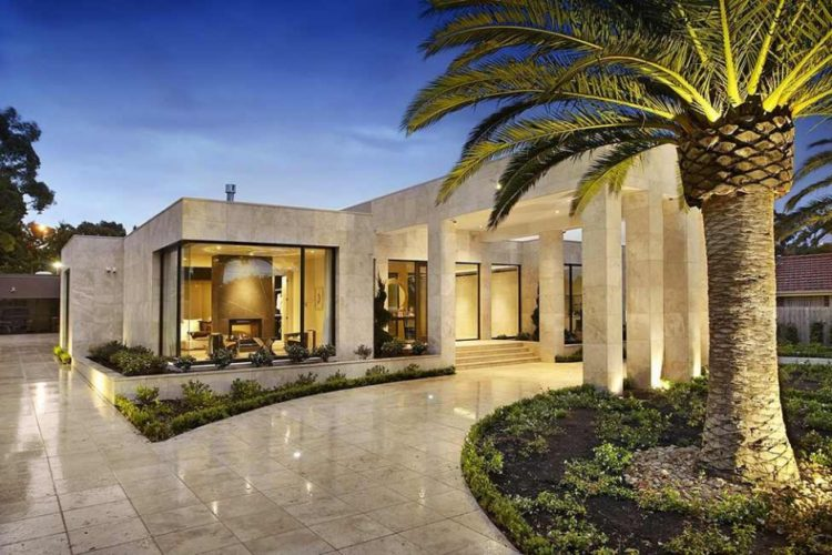 Botticino Marble Slab On Exterior Wall and Flooring