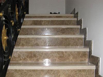 Botticino Marble Slab On Stairs