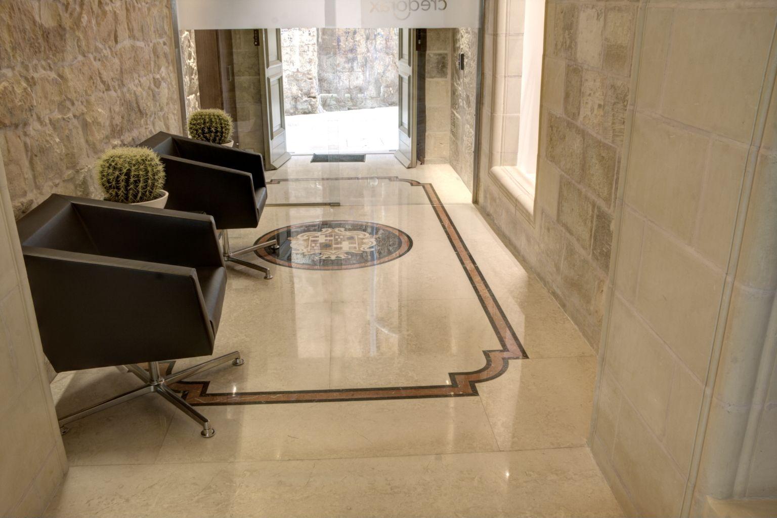 Botticino Marble Tiles In Hallway