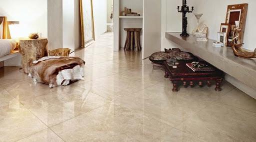 Botticino Marble Tiles In Living Room