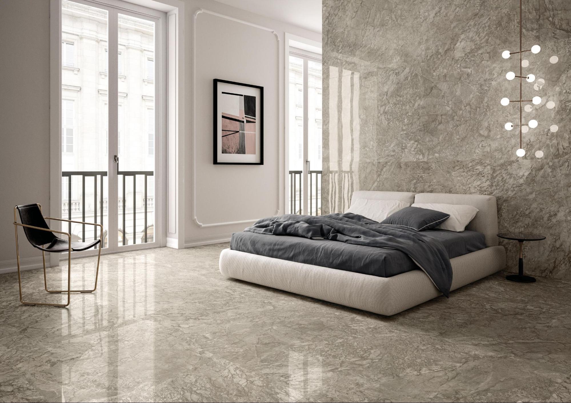 Breccia Marble Slab In Bedroom