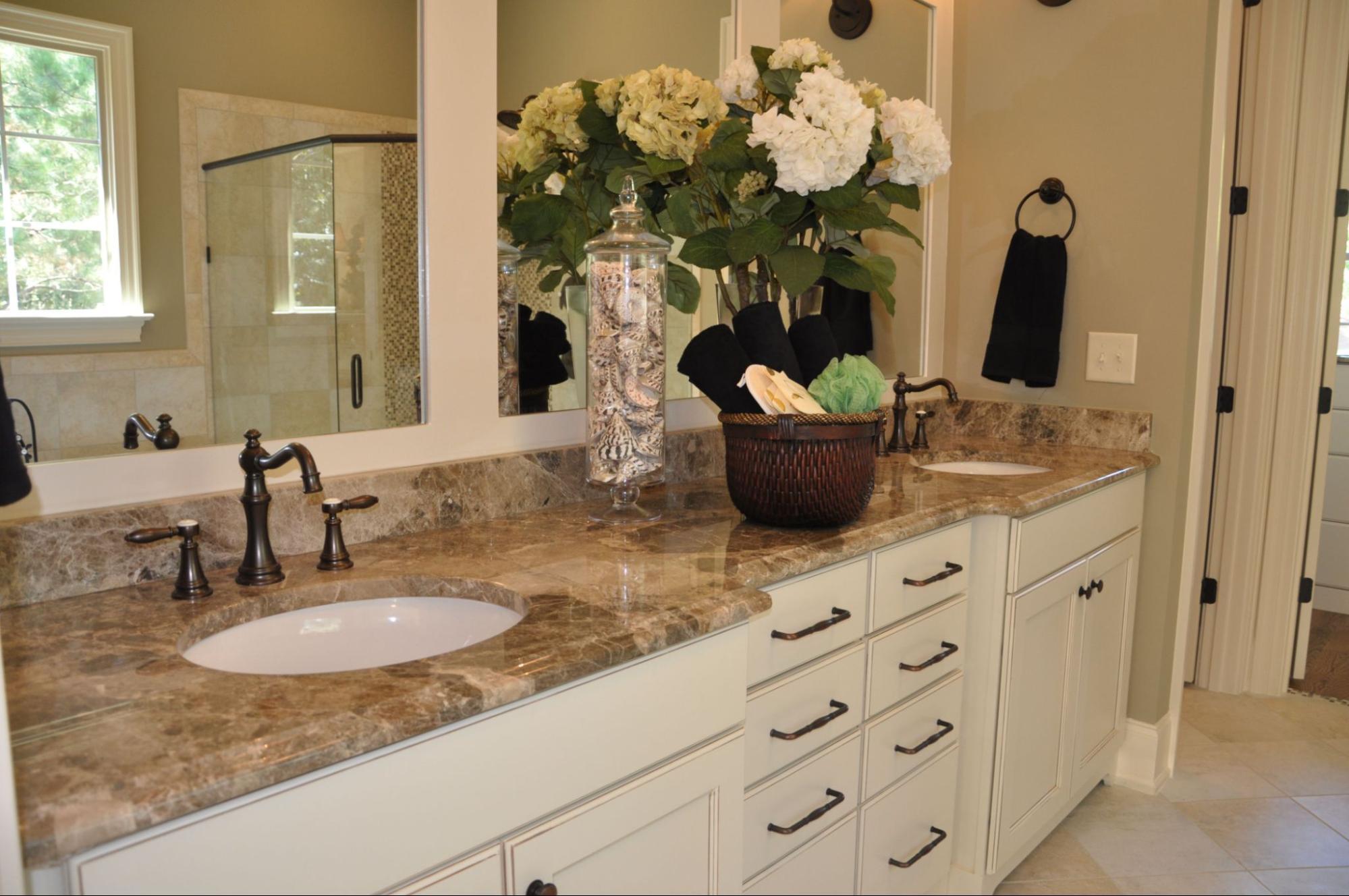 Breccia Marble Slab On Bathroom Vanity Top
