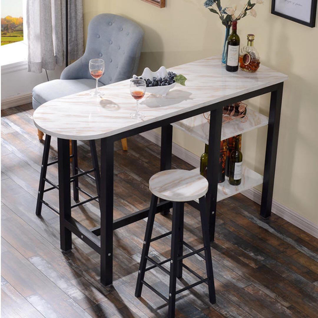 Breccia Marble Tiles On Baar Table