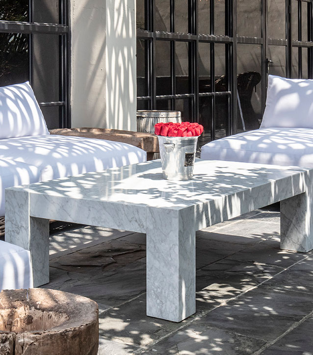 Breccia Marble Tiles On Coffee Table