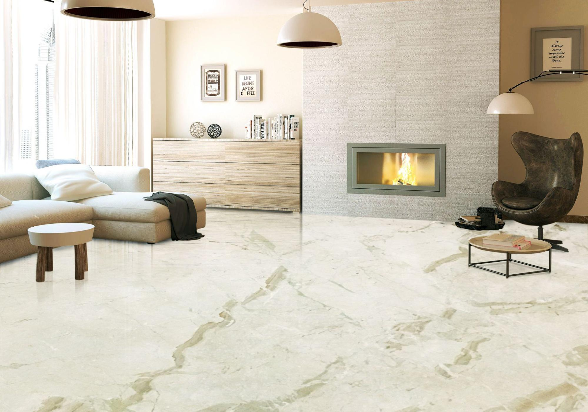 Breccia Marble Tiles On Flooring