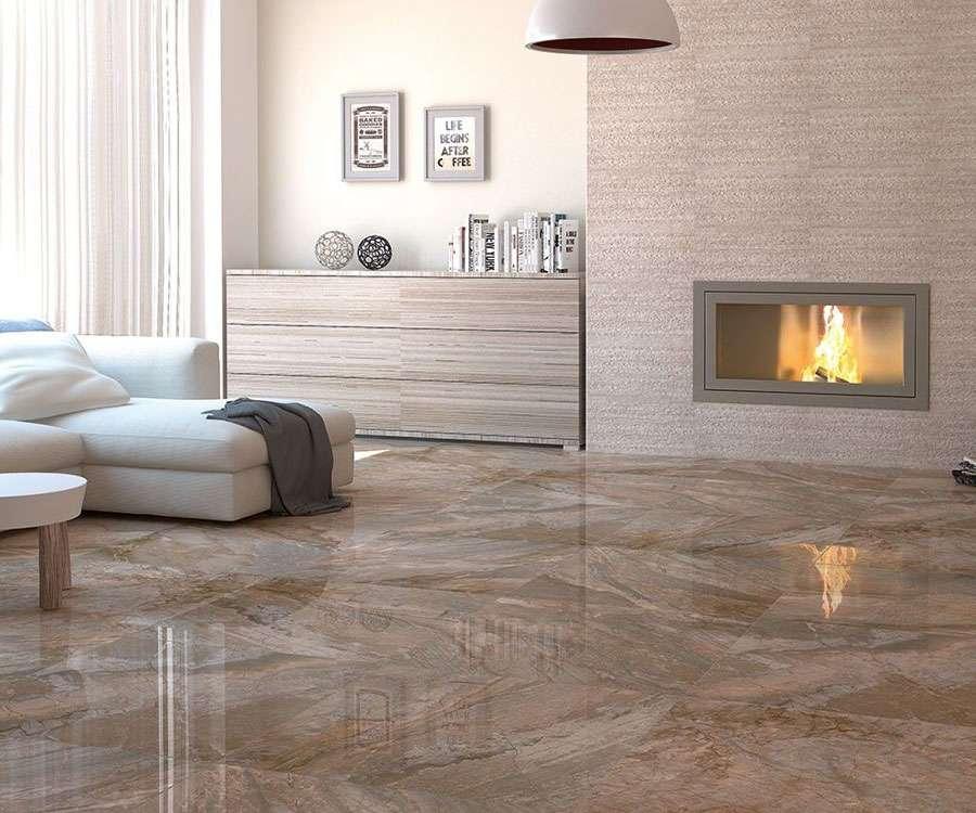 Brown Marble Slab On Floor