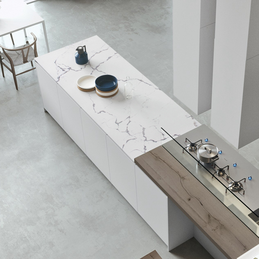 Brown Marble Slab On Table Tops