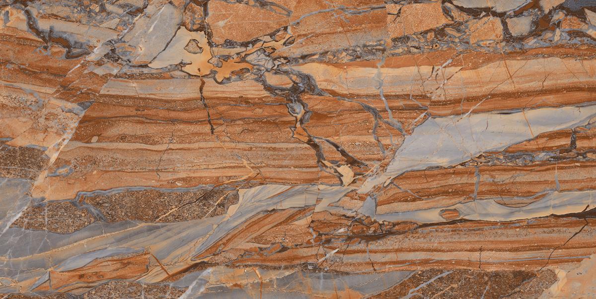 Brown Wave Marble Slab