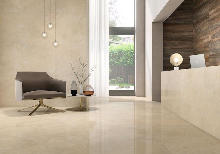 Crema Marble Tiles On Wall