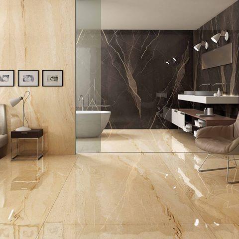Dyna Marble Slab In Bathroom
