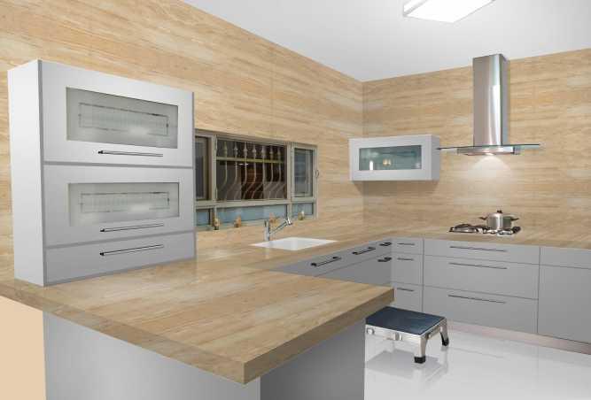 Dyna Marble Slab In Kitchen