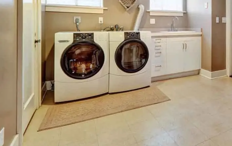 Dyna Marble Slab In Laundry Room