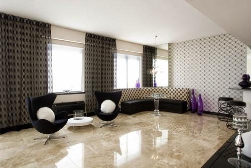 Dyna Marble Slab In Living Room