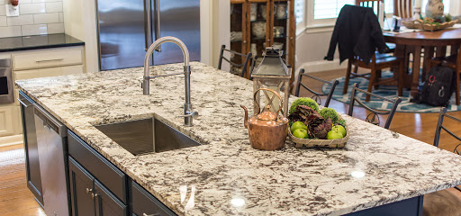 Dyna Marble Slab On Kitchen Countertop