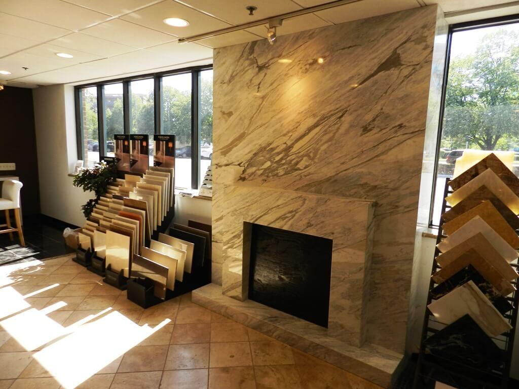 Dyna Marble Tiles Arround Fireplace