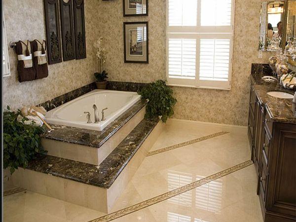 Dyna Marble Tiles On Bathtub