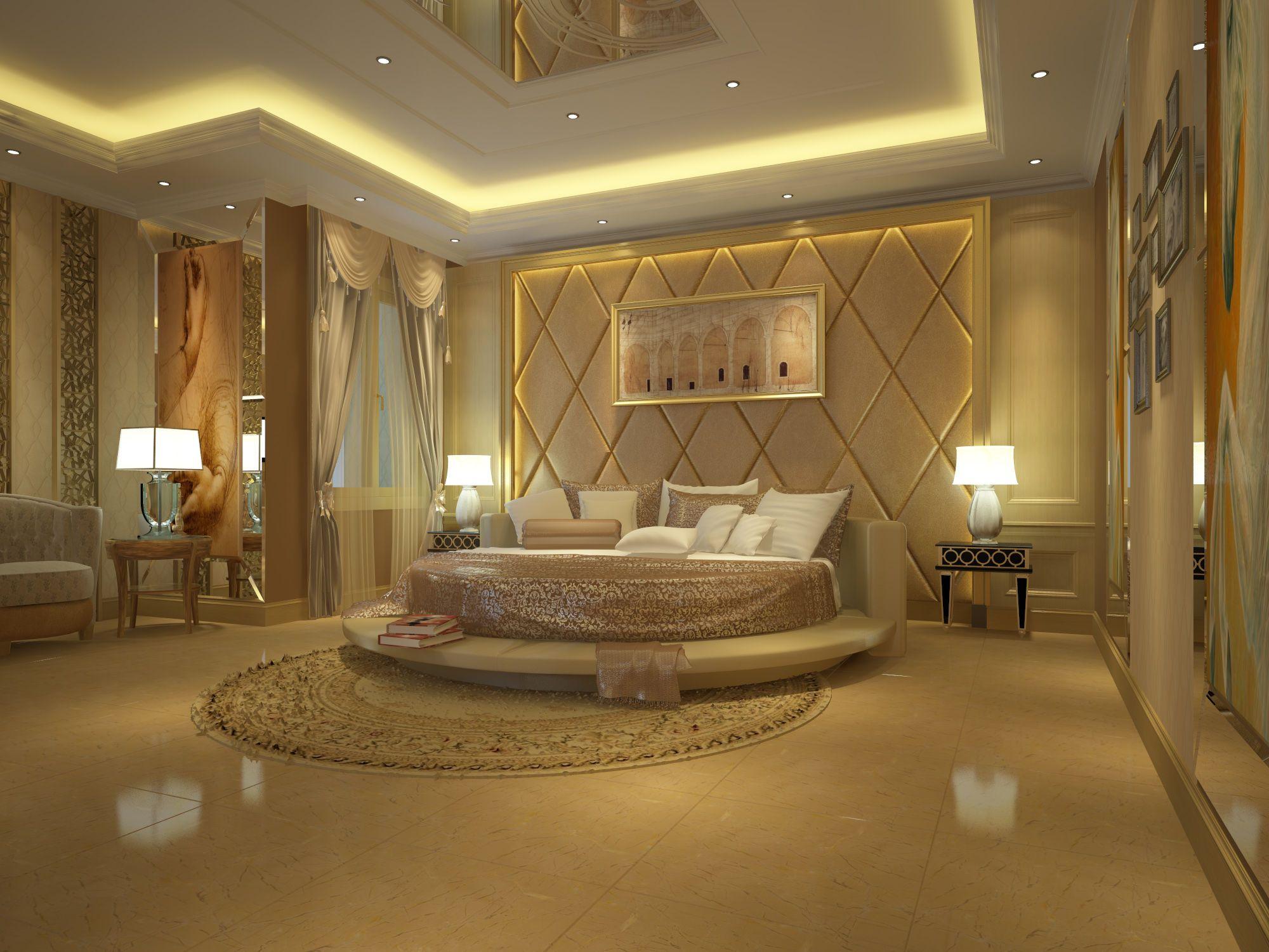 Emperador Marble Slab In Bedroom