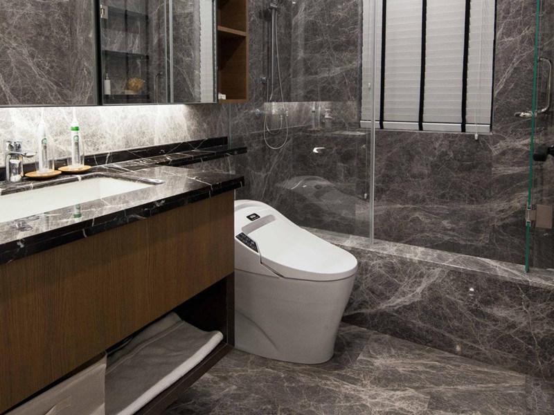 Grey Marble Slab In Bathroom