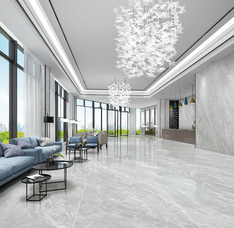 Grey Marble Slab In Living Room