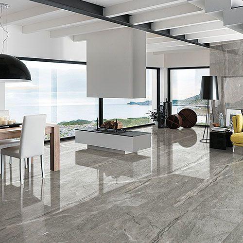 Grey Marble Slab On Flooring