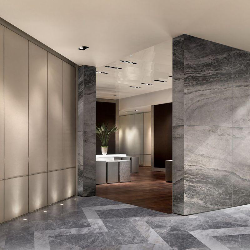 Grey Marble Slab On Wall
