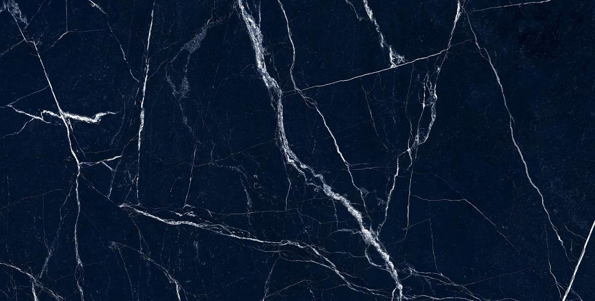 High-Gloss Blue Marble Slab
