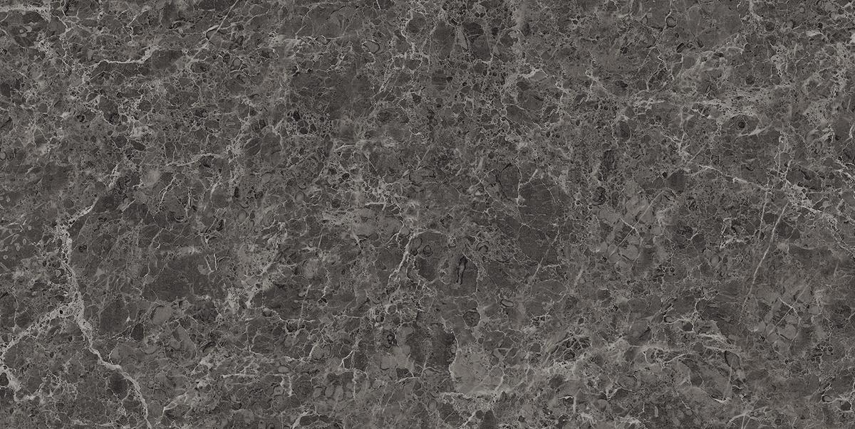 High-Gloss Silver Marble Slab