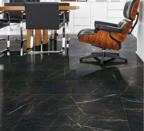 Marquina Marble Tiles In Commercial Area