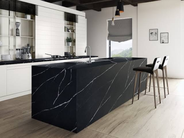 Marquina Marble Tiles On Countertops