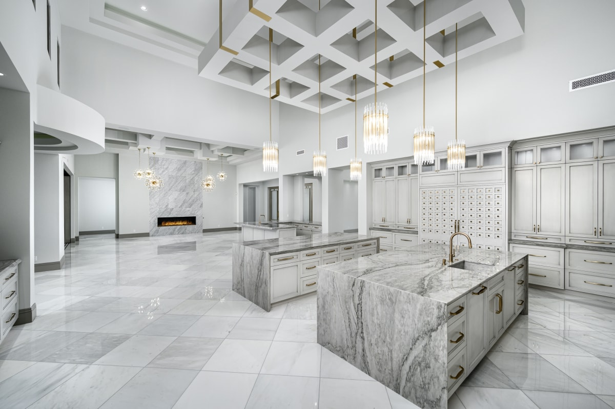 Silver Marble Slab On Countertops