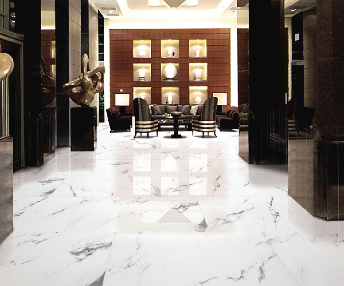 Statuario Marble Tiles In Hallway Flooring