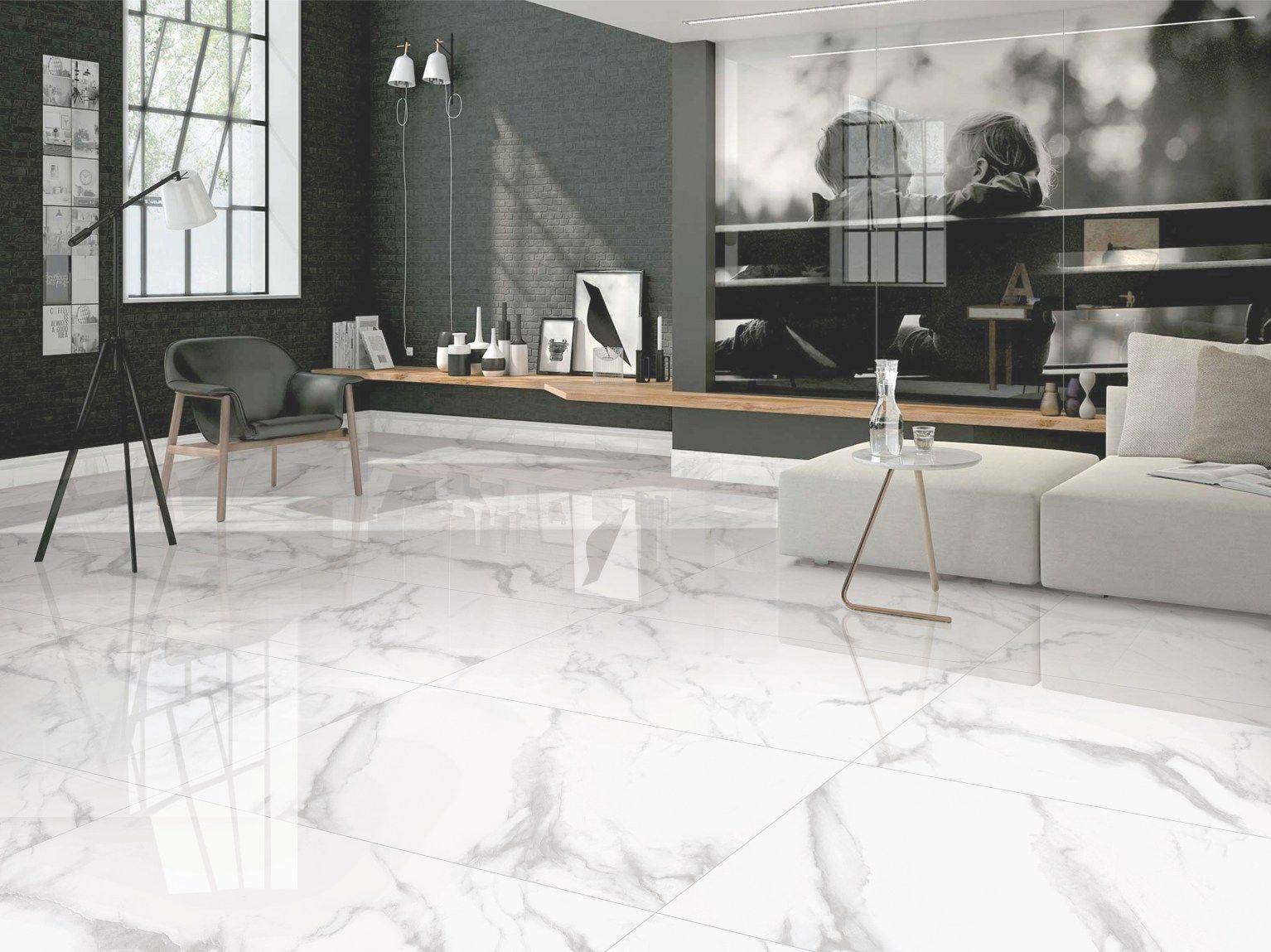 Statuario Marble Tiles In Living Room