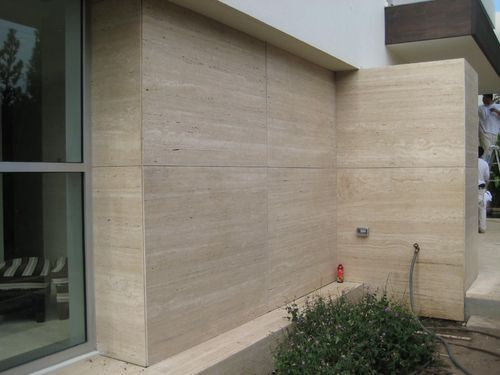 Travertino Marble Slab  On Wall Covering