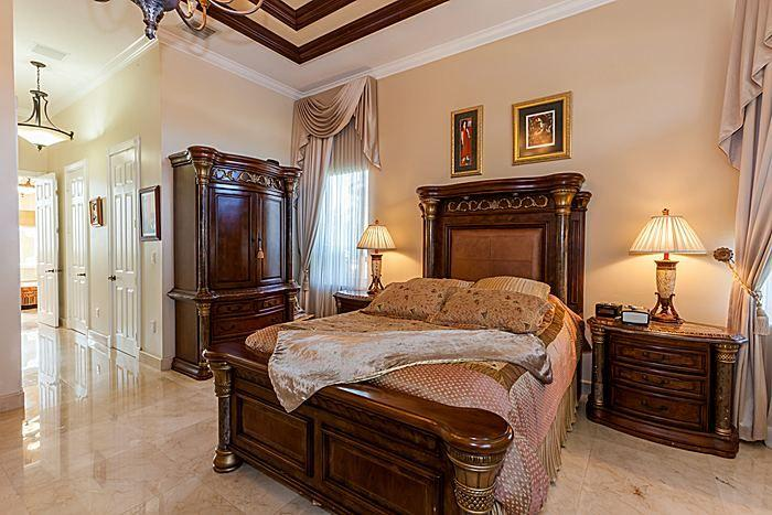 Travertino Marble Tiles In Bedroom